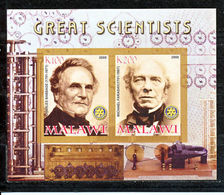 Malawi 2008 M/S Cinderella Issue Stamps Great Scientists Charles Babbage People Sciences Physics Stamps MNH Imperf - Physics