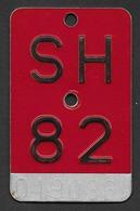 Velonummer Schaffhausen SH 82 - Plaques D'immatriculation
