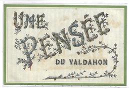 Une Pensée Du VALDAHON - Carte Pailletée - France