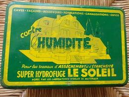 BOITE METALLIQUE LE SOLEIL Le Super Hydrofuge LABORATOIRES FOUCARD  Marseille - Scatole