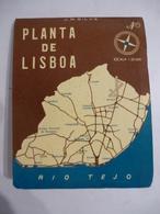 LISBONNE (PORTUGAL) : PLAN De La Ville Echelle 1/20000 - 1959 - Maps
