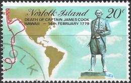 NORFOLK ISLAND 1979 Death Bicent Of Captain Cook - 20c - Cook (statue) FU - Norfolkinsel