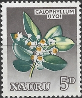 NAURU 1963 'Iyo' (calophyllum) - 5d - Multicoloured MH - Nauru