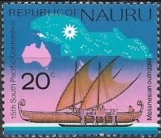 NAURU 1975 South Pacific Commission Conf, Nauru - 20c - Melanesian Outrigger MNH - Nauru