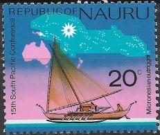 NAURU 1975 South Pacific Commission Conf, Nauru - 20c - Micronesian Outrigger MNH - Nauru