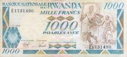 Rwanda 1.000 Francs, P-21 (1.1.1988) - VF - Rwanda