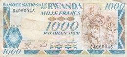 Rwanda 1.000 Francs, P-21 (1.1.1988) - Fine - Rwanda