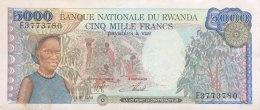 Rwanda 5.000 Francs, P-22 (1.1.1988) - EF/XF - Rwanda