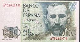 Spain 1.000 Pesetas, P-158 (23.10.1979) - UNC - [ 4] 1975-… : Juan Carlos I