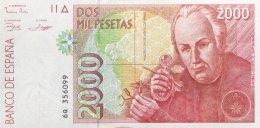 Spain 2.000 Pesetas, P-164 (24.4.1992) - UNC - [ 4] 1975-… : Juan Carlos I