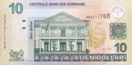 Suriname 10 Dollar, P-158a (2004) - UNC - Surinam