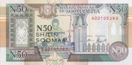 Somalia 50 N. Shilin, P-R2 (1991) - UNC - Somalia