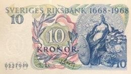 Sweden 10 Kroner, P-56a (1968) - UNC - Schweden
