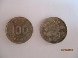 Japan: 2x 100 Yen  1959, 1957 (silver) - Japon
