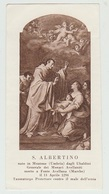 SANTINO - IMAGE PIEUSE - DEVOTIONAL IMAGES - HEILIGES BILDER - ŚWIĘTY OBRAZ - S. ALBERTINO - Santini
