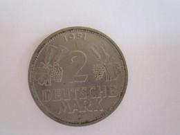 Allemagne: 2 Deutsche Mark 1951 G - [ 3] 1918-1933 : Weimar Republic