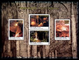 2017 India -Caves Of Meghalaya - MS - MNH** MI Block 164 ; Geology, View Of Caves- Blang, Khung, Syndai, Lymput - Geologie
