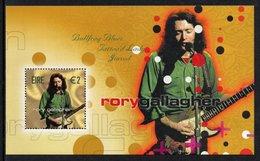 IRELAND 2002 Irish Rock Legends/Rory Gallagher: Miniature Sheet UM/MNH - Blocks & Sheetlets