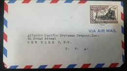 O) 1949 COSTA RICA, WAR FOR NATIONAL LIBERATION-BATALLON OBSERVATION POSITION SCOTT  C193 AP49 55c, AIRMAL TO USA - Costa Rica