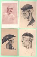"""Lot 6 CPA - Illustration Thème """"PAYS BASQUE"""" - Illustrateurs Divers - Legat, Jacques Le Tanneur... - 5 - 99 Postcards"""