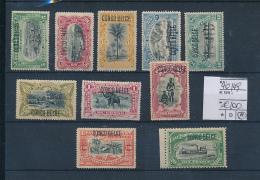 BELGIAN CONGO 1909 ISSUE TYPO COB 40/49 LH - Congo Belge