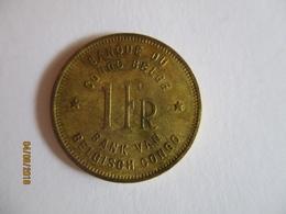 Congo Belge 1 Franc 1949 - Congo (Belge) & Ruanda-Urundi