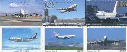 1984 - 6 Airline / Flugzeug Japan Telefonkarten - Flugzeuge