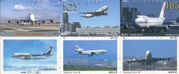 1984 - 6 Airline / Flugzeug Japan Telefonkarten - Avions