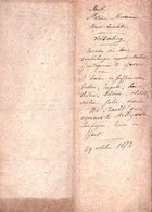 AKTE 1872 ** HEMELGEM Leupegem - VERKOOP HUIS EN GRONDEN DE RAEDT - VAN DER HAGHEN!!! ** 8 Pag. - - Historische Documenten
