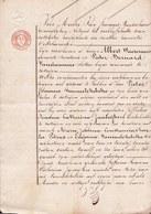 AKTE 1837 ** ZOTTEGEM - NALATENSCHAP - VANMELCKEBEKE - JANSEGHERS ** 3 Pag. - - Historische Documenten