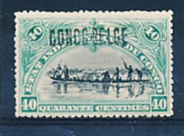 BELGIAN CONGO 1909 ISSUE COB 34B2 LH - Belgisch-Kongo