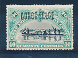 BELGIAN CONGO 1909 ISSUE COB 34B2 LH - Congo Belge