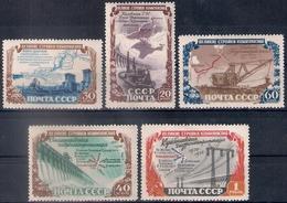 Russia 1951, Michel Nr 1601-05, MLH OG - 1923-1991 USSR