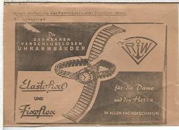 ALEMANIA SOBRE CORREO OFICIAL 1956 CON PUBLICIDAD RELOJ CLOCK WATCH JEWLERY - Relojería