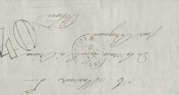 Lettre De Montfaucon Vers Brignais  Taxe 40 2 Octobre 1872 - Marcophilie (Lettres)