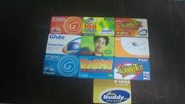 Philippines-prepiad Cards(9cards)-used+3 Prepiad Free - Philippines