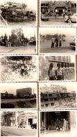 Lot De 13 Photos Sur L'Asie Vers 1950/60 - Vietnam ? Indochine, Thaïlande, Rues Animées, Pin-Up & Azeez Ahmed, Jonques, - Oggetti