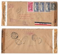 Haiti 1943 Double Censored Registered Auxiliary Mark Lottery Fraud Airmail Cover To US C9 C18 - Haiti