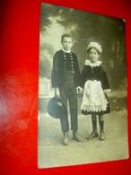 Enfants En Costume De Fouesnant Bretagne / Photographie Carte Postale / Début XXe - Identified Persons
