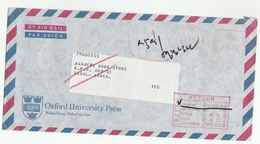 GB To SOUTH KOREA RETURNED TO SENDER Post Marking Airmail COVER Oxford To Seoul Meter Stamps 1985 Heraldic - Korea, South