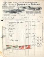 Terhaegen Lez Boom - Lamberts Frères - Fabrique De Pantoufles Pantoffelfabriek -  Illustrée, 1933, Timbres - Belgium