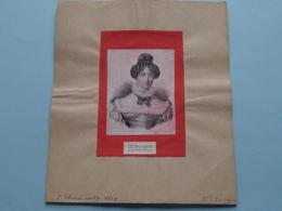 Mlle BOURGOIN Art Du Théatre Français ( Voir Photo Pour Détail Svp ) ! - Vieux Papiers