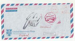 GB To NEW ZEALAND ,  DECEASED , AUCKLAND RLB  RETURN TO SENDER  Post Marking Oxford Meter Stamps 1985 Airmail - Nuova Zelanda