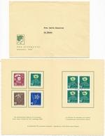 1949 Pro Juventute Dankeskärtli Mit Umschlag, Limitierte Auflage Vom Zentralsekretariat J129-J132 / 541-544 - Lettres & Documents