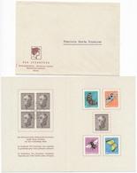 1950 Pro Juventute Dankeskärtli Mit Umschlag, Limitierte Auflage Vom Zentralsekretariat J133-J137 / 550-554 - Lettres & Documents