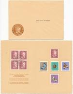 1952 Pro Juventute Dankeskärtli Mit Umschlag, Limitierte Auflage Vom Zentralsekretariat J143-J147 / 575-579 - Lettres & Documents