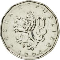 Monnaie, République Tchèque, 2 Koruny, 1994, TTB+, Nickel Plated Steel, KM:9 - Tchéquie