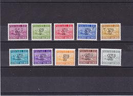 GUERNESEY 1971-1976 TAXE Yvert 8-17 NEUF** MNH - Guernesey