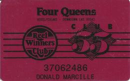 Four Queens Casino - Las Vegas, NV - Reel Winners Club / Club 55 Slot Card - Casino Cards