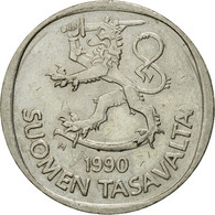 Monnaie, Finlande, Markka, 1990, TTB, Copper-nickel, KM:49a - Finlande